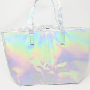 Handbags - Holographic Tote bag by Chi So Shiny So Fun! Nwot!